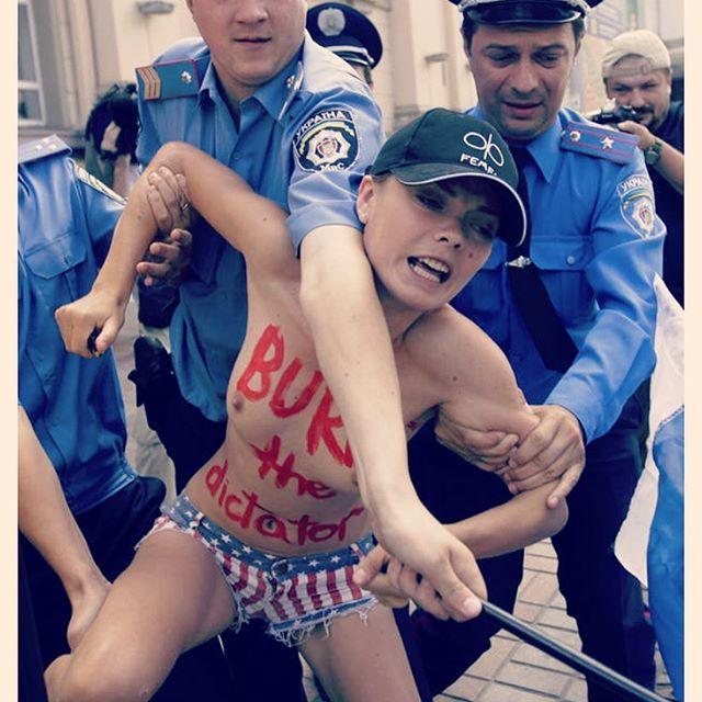fundadoras del movimiento internacional de mujeres Femen