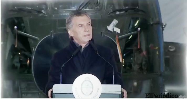 Macri anuncia una reforma de las Fuerzas Armadas argentinas para encargarse del orden interior