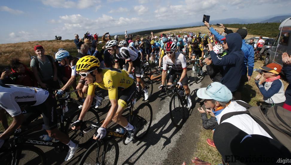 Protestas durante el Tour de Francia, en su 16ª etapa