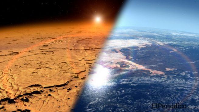 Descubren un lago bajo la capa de hielo de Marte