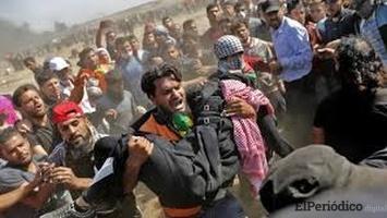 Más de 200 heridos y un palestino muerto en la frontera de Gaza con Israel