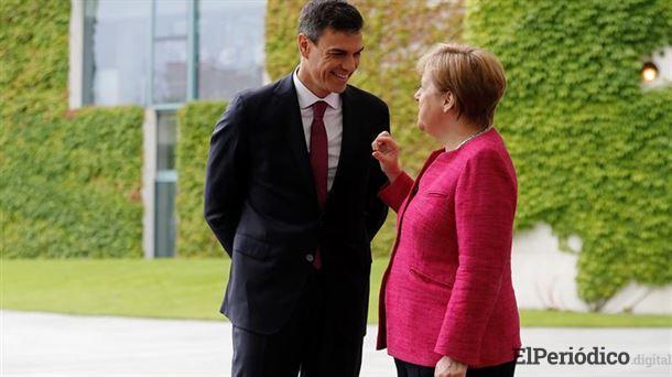 Sánchez y Merkel se reúnen para conseguir un enfoque europeísta