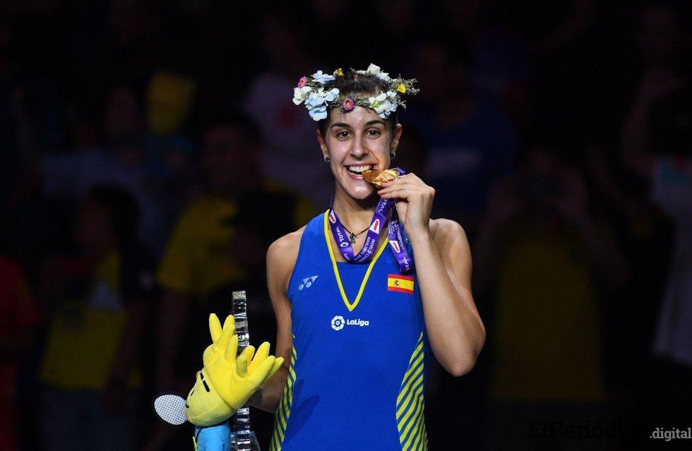 Carolina Marín, tricampeona mundial de bádminton