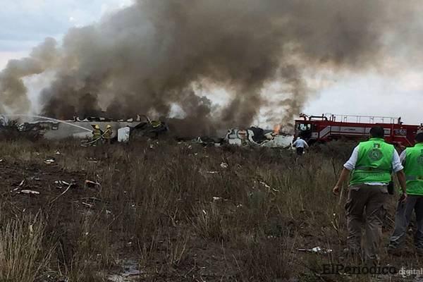 Avión de Aeroméxico, cae al norte de Durango