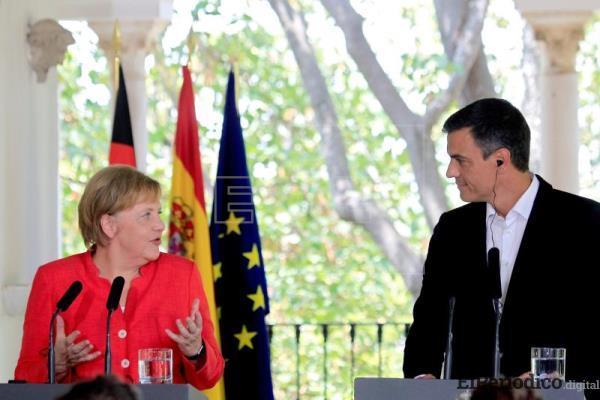 El día sabado 11 de agosto se llevó a cabo rueda de prensa con el presidente de España Pedro Sanchez y la canciller alemana Angela merkel