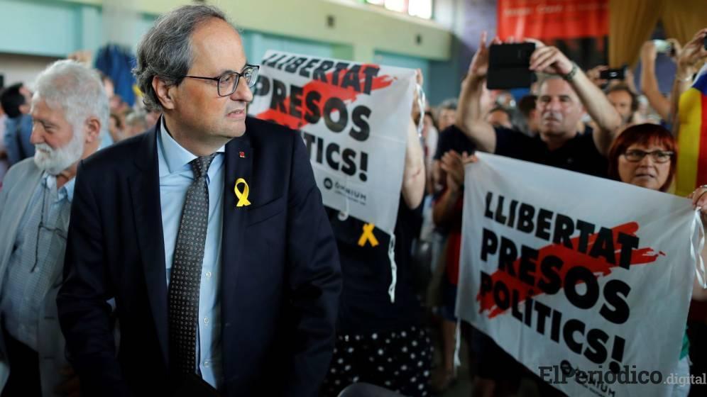 Quim Torra dentro de su discurso pautado para el 4 se septiembre en Barcelona, hara llamado a toda la ciudadanos a que salgan a la callea protestar.