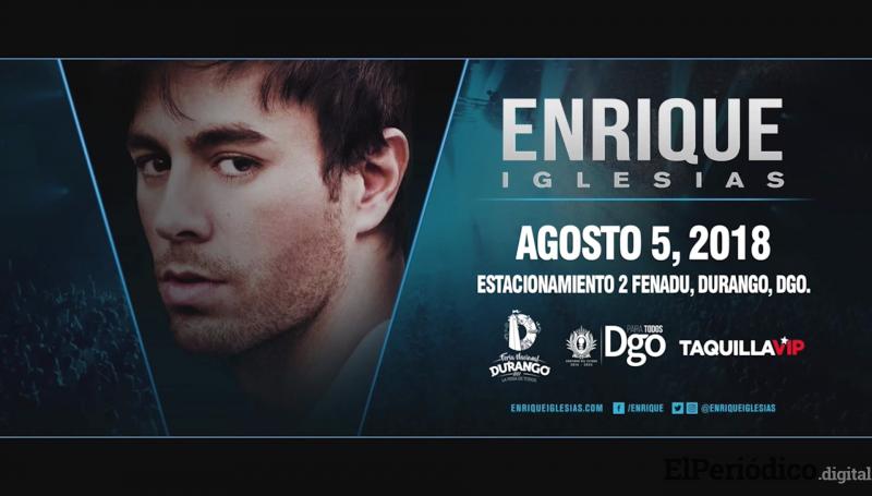 Enrique Iglesias le toca el trasero a Celia Chávez en el concierto de Durango