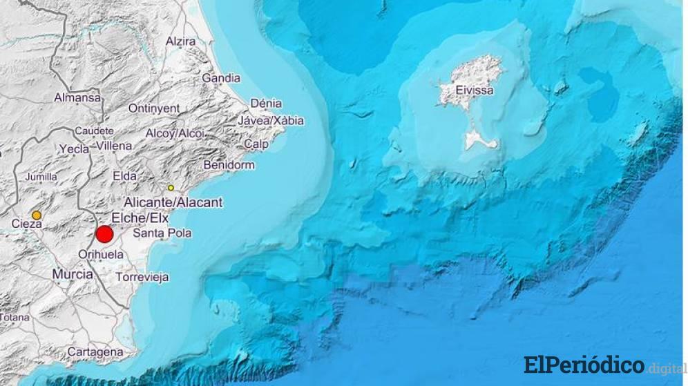 Terremoto de una magnitud de 4.2 grados, el epicentro del temblor se registró a 11 kilómetros de profundidad, al noreste de Albatera