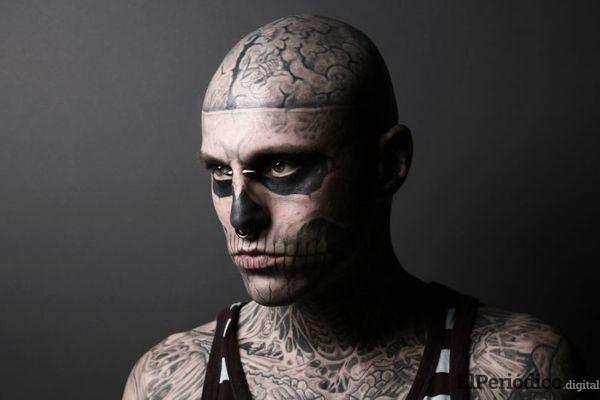 """Rick Genest o mejor conocido como """"Zombie Boy"""" fue hallado sin vida en la madrugada del 03 de agosto en su residencia en Canadá"""