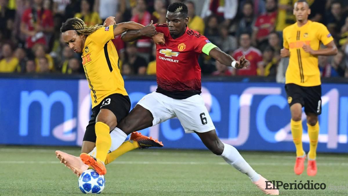 El Manchester United consiguió una contundente victoria por marcador de 0 a 3, sobre el Young Boys. Paul Pogba tuvo un destacado desempeño.