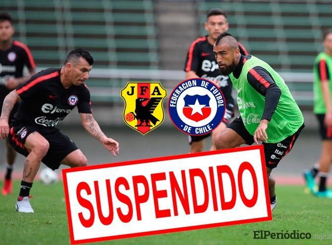 El 6 de agosto, la Asociación de Fútbol de Japón anunció la suspensión del partido entre la selección de Japon y Chile correspondiente a la fecha FIFA