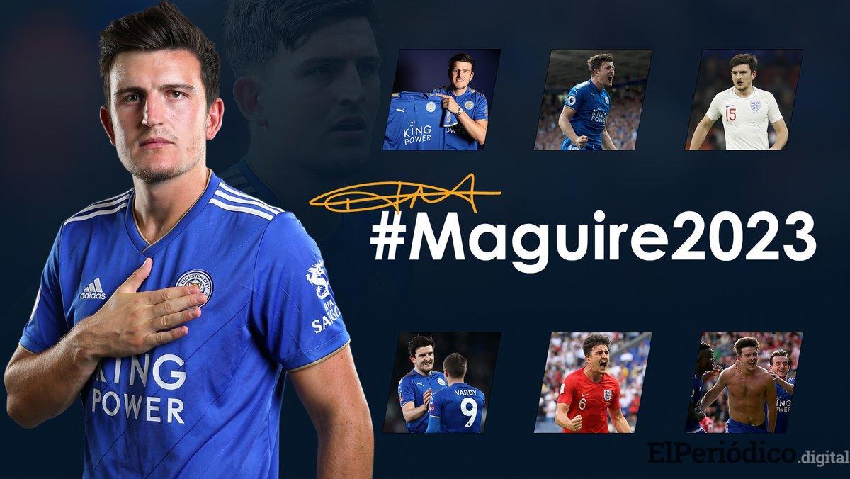 El pasado 9 de septiembre del 2018, el Leicester City FC de la Liga Premier Inglesa hizo pública la renovación del inglés Harry Maguire