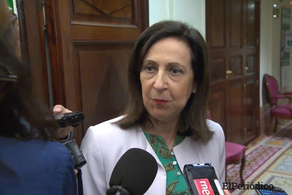 Ministra de la defensa del gobierno de Sánchez, Marcagrita Robles, asegura que la venta de las bombas a Arabia Saudí no se ha suspendido.