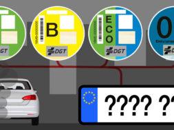 Cómo saber que pegatina DGT poner a tu coche, y donde comprarla