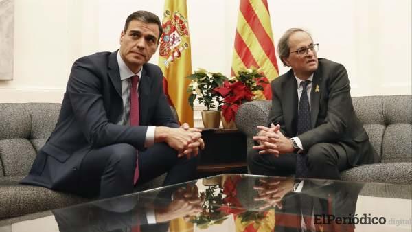 Torra le planteó a Sánchez 21 puntos en Barcelona y la Generalitat, los revela.
