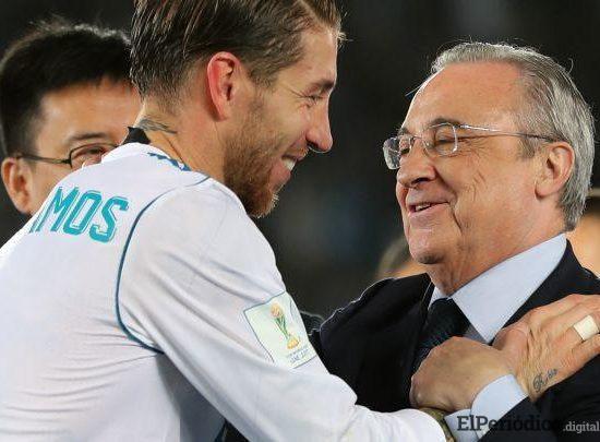 Sergio Ramos y Florentino Pérez