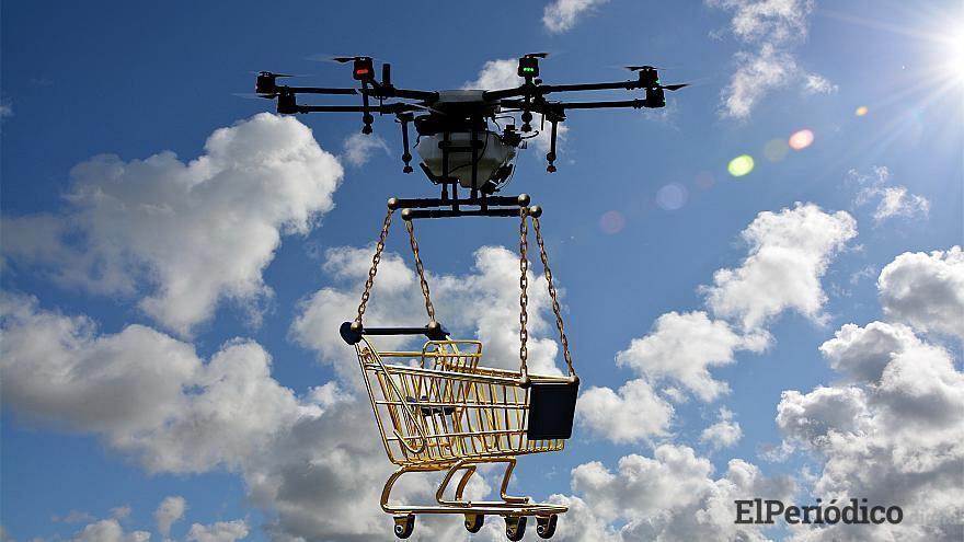 Servicio de entrega a domicilio con drones