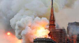 Los bomberos anuncian que lograronla extinción total del incendio ocurrido en Notre Dame