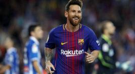 Lionel Messi llega a la Champions