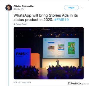 Así se verán los anuncios que mostrará WhatsApp en 2020 2