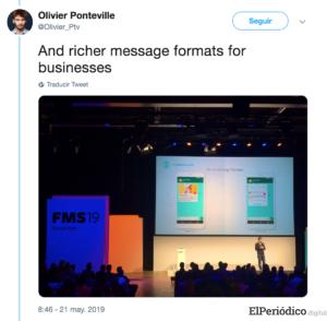 Así se verán los anuncios que mostrará WhatsApp en 2020 1