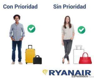Ryanair recorta nuevamente su límite de equipaje en cabina 2