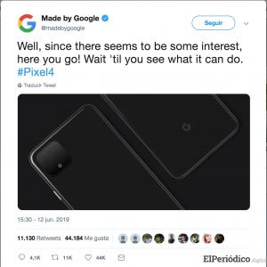 Google filtró imágenes del Pixel 4 que se lanzaría en octubre 1