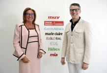 Marta Ariño, CEO y Editora de Zinet Media junto aSantiago De Quiroga, presidente editor de Wecare-u