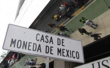 cartel de Casa de Moneda de México, donde se ha producido el robo.