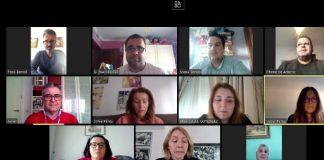 Reunión telemática de concejales socialistas/Sur