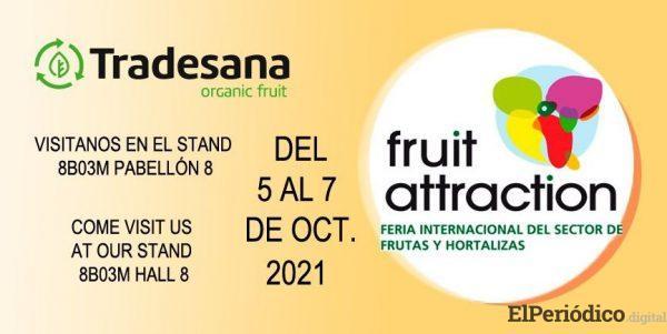 Mayoristas y distribuidores de fruta ecológica en la Fruit Attraction 2021 en Madrid 1